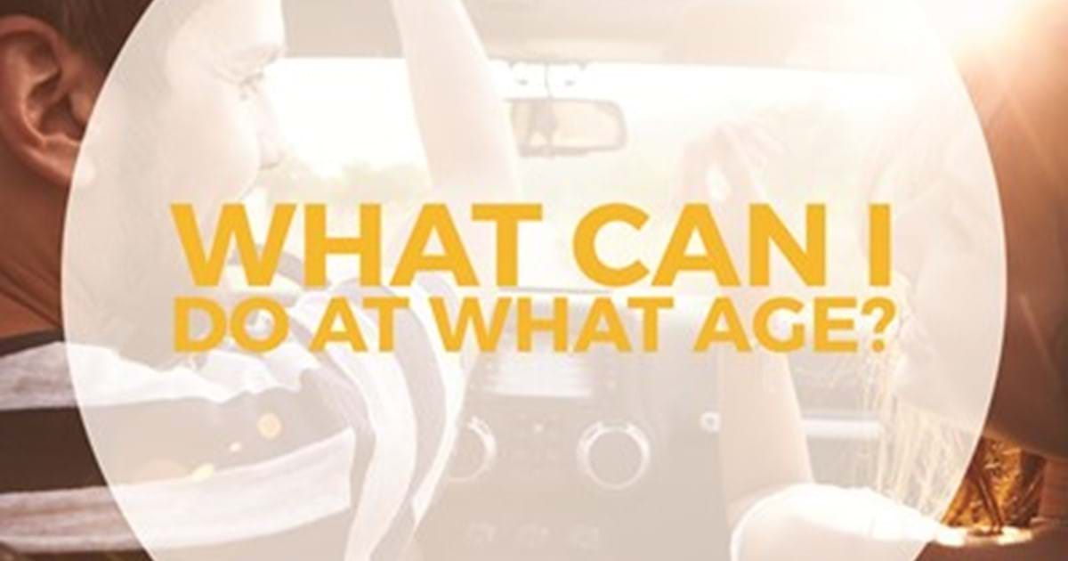 What Can You Do At What Age Young Scot